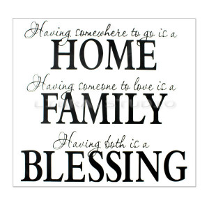 Details about Home Family Blessing Wall Sticker Art Word Removable PVC ...