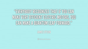 Everybody recognizes that if you can make very efficient electric ...