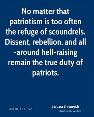 Barbara Ehrenreich Patriotism Quotes