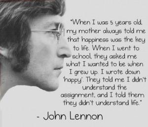 Good Morning Sunday – John Lennon on Happiness the Key to Life