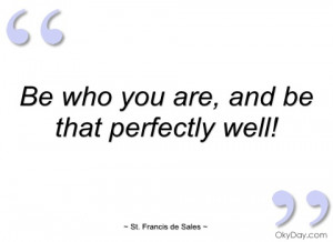 be who you are st