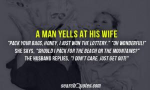 man yells at his wife