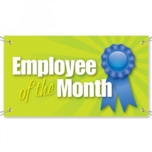 Employee of the Month Vinyl Banners