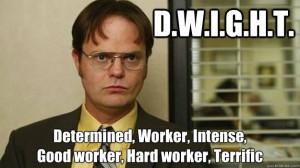 Dwight Work Meme Dwight schrute interview