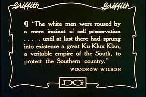 Figure 1. Title card, D. W. Griffith, The Birth of a Nation (1915).