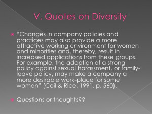 Diversity in The Workplace Quotes Diversity in The Workplace