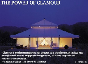 ... from THE POWER OF GLAMOUR by Virginia Postrel #glamour #mystery