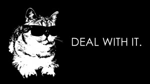 Deal With It - Hilarious Wallpaper