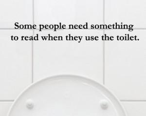 Reading in the Bathroom Quote Vinyl Wall Art ...