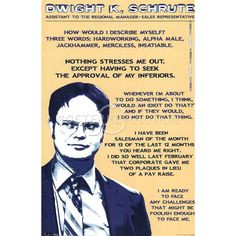 Dwight K. Schrute quotes. I love the Office! More