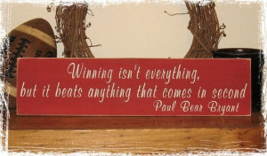 ThanksWOOD SIGN Alabama Crimson Tide Bear Bryant Football Quote Wall ...