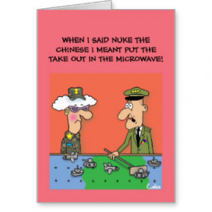 Funny military cartoon personalized Greeting Card
