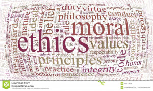 Royalty Free Stock Image: Ethics and principles word cloud