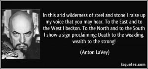 Anton LaVey Quote