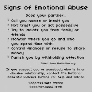 Emotional/Verbal Abuse