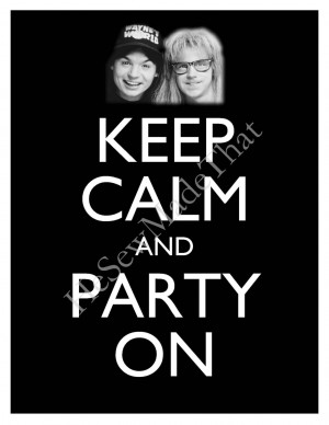 Waynes World Meme And party on wayne's world