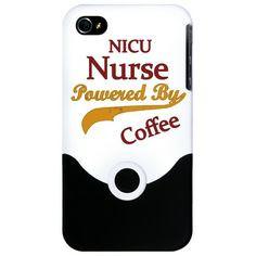 NICU Nurse Powered By Coffee iPhone 4 Slider Case