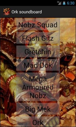 View bigger - Warhammer 40k soundboard Orks for Android screenshot
