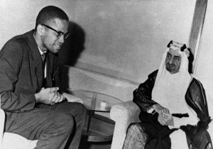 Malcolm X, left, African-American black Muslim leader, with King ...
