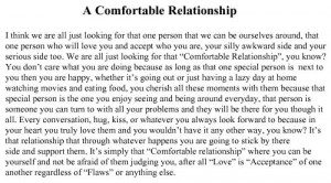 Comfortable Relationship: Quote About A Comfortable Relationship ...