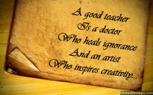 Inspirational messages for teachers: Quotes for teachers