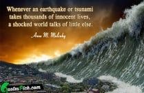 whenever an earthquake or tsunami