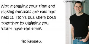 Famous quotes reflections aphorisms - Quotes About Time - Not managing ...