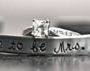 Soon to be Mrs. (any name here) bride, custom SKINNY hand stamped cuff ...