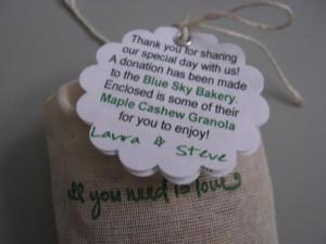 wedding favors sayingsquot;