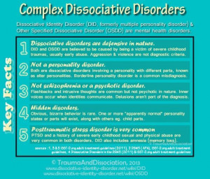 to challenge the stigma of DID (formerly multiple personality disorder ...