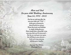 50th Wedding Anniversary Poems | 40th Wedding Anniversary Poem Gift ...