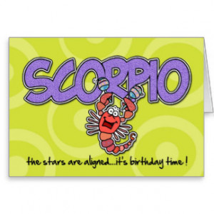 Scorpio Birthday Greetings