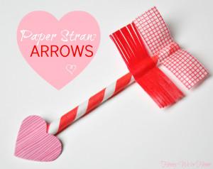 Valentine's Day Craft // Paper Straw & Washi Tape Arrows