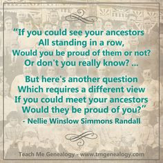 If You Could See Your Ancestors