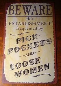 Funny Signs on Funny Country Western Old West Saloon Bar Sign Beware ...