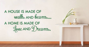 House and Home quote wall decal