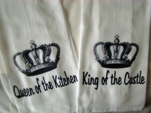 King And His Queen Quotes King and queen tea towels