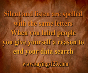 Silent and listen are spelled
