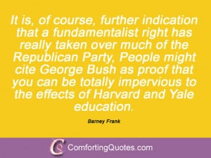 Barney Frank Sayings