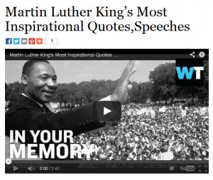 Martin Luther King's Most Inspirational Quotes,Speeches