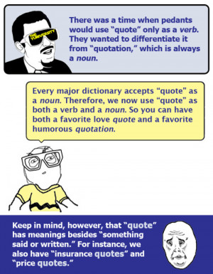 """What's Up With """"Quotes"""" and """"Quotations""""?"""