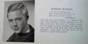 ... with Christopher Walken, and she has the yearbook photo to prove it
