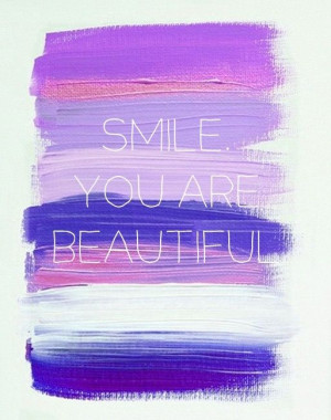 Smile you are beautiful. #quote