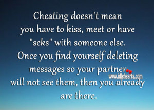 "Cheating doesn't mean you have to kiss, meet or have ""seks"" with ..."