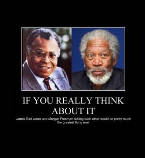 Morgan Freeman and James Earl Jones tickle fight