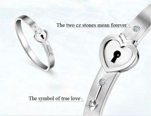 Heart Lock and Key Bracelet