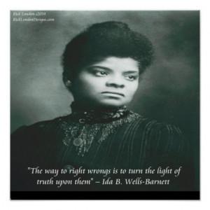 Ida B Wells Exposing Truth Quote Poster