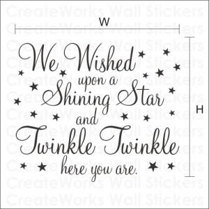 We wished upon a shining star' Kids Wall Art Sticker - WA095X