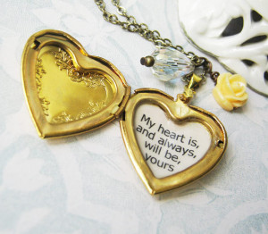 jane austen book sense and sensibility jewelry locket with quote my ...