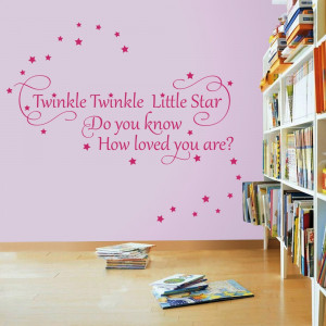 Details about Twinkle Twinkle Little Star 2 - Nursery Wall Quote Decal ...